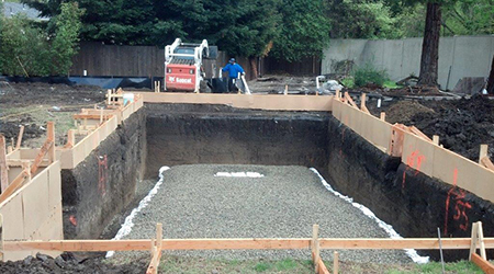 commercial swimming pool excavation bay area