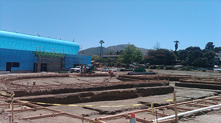commercial swimming pool excavation