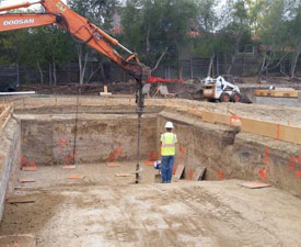 swimming pool foundation piers bay area